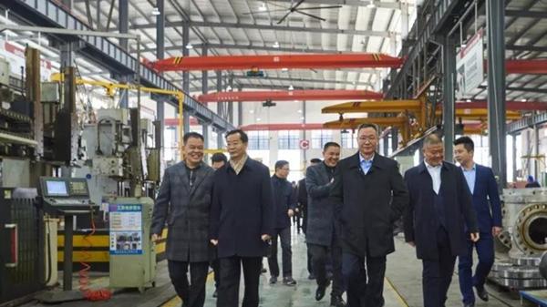 溫州市婁紹光副市長一行蒞臨浙江石化閥門有限公司走訪與指導